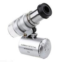 60Pcs Lupe Hand Taschen-Mikroskop Licht Mode LED Juwelier-Vergrößerungs Mini PAL