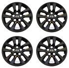Set (4pcs) BLACK Hubcap Wheelcover fits 2013 - 2018 Nissan ALTIMA 16 10-spoke