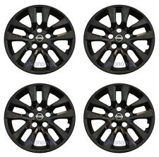 "Set (4pcs) BLACK Hubcap Wheelcover fits 2013 - 2017 Nissan ALTIMA 16"" 10-spoke"