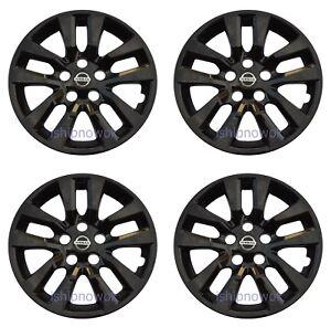 "Set (4pcs) BLACK Hubcap Wheelcover fits 2013 - 2018 Nissan ALTIMA 16"" 10-spoke"