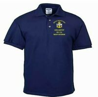 USS LAFFEY  DD-724  NAVY ANCHOR EMBROIDERED LIGHT WEIGHT POLO SHIRT