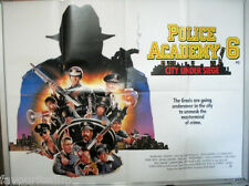 Cinema Poster: POLICE ACADEMY 6 CITY UNDER SIEGE 1989 (Quad) Bubba Smith