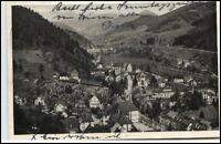 Hornberg Postkarte 1932 gelaufen Blick vom Schloß ins Gutachtal Tal Schwarzwald