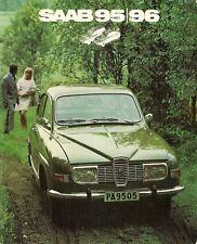 SAAB 96 & 95 V4 1971-72 UK Market sales brochure