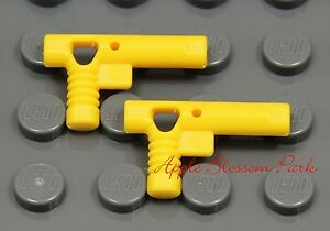 NEW Lego 2 City Police Agent YELLOW HAND GUN Space Minifig Pistol Weapon -Nozzle