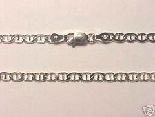 STERLING SILVER 4MM WIDE MARINA LINK  CHAIN 24-INCH
