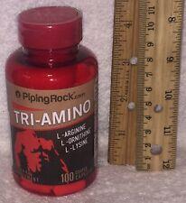 Tri-Amino: L-Arginine, L-Ornithine & L-Lysine, 100 coated caplets