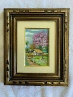 Original Hand Painted and Framed Canvas Landscape by Shidon Soares (12 x 10in)