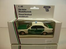 SCHABAK BMW 535i E34 POLIZEI - POLICE - WHITE + GREEN 1:43 - EXCELLENT IN BOX