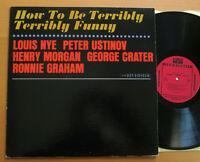 How To Be Terribly Terribly Funny Peter Ustinov etc USA Vinyl Riverside RLP 7516