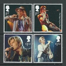 GREAT BRITAIN 2017 DAVID BOWIE SET OF 4 EX. MINIATURE SHEET UNMOUNTED MINT, MNH