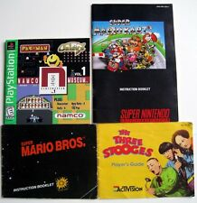 Vtg Video Game Booklets Playstation Nintendo Super Mario 3 Stooges Namco Museum