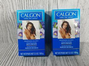 (2) Calgon Take Me Away, Morning Glory, Moisturizing, Bath Beads 3.5 oz
