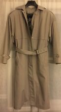London Fog Women Insulated Trench Coat Removable Paisley Lining Size 12 Reg
