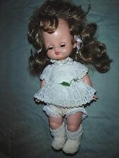 """Vintage Plastic Baby Doll Plastic Blinking 13""""  Body Toy"""