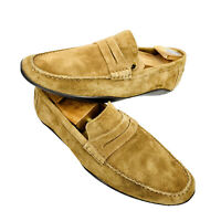 HARRYS OF LONDON Beige Suede Driving Moccasins Mens Shoes US Size 10.5 Euro 43.5