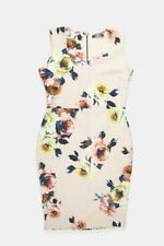 Zuppe Pink Floral Pencil Wedding Sweethert Neck Dress Size 12 Womens