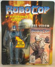 "C1994 Vintage Robocop 8"" Electronic Action Figure with Robocop Cartoon Video"