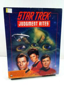 Star Trek Judgement Rites Interplay 1993 IBM PC US Spiel Big Box CIB VGC OVP sgZ