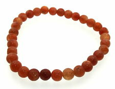 4mm Round Sunstone Gemstone Crystal Bracelet
