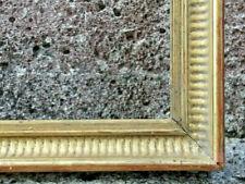 Cadre XIXème à palmettes bois doré à l'or 44 X 40 cm Feuillure 40,5 X 36,5 cm