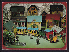 1969 Hallmark old Train Village Homes mechanical Toys continental postcard