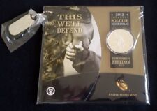 """United States 1$ Silver Proof coin 2012 """"Infantry Soldier"""" Freedom Set SEALED"""