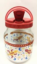 New listing Anchor Hocking 54 Oz. Glass Drink Storage Jug With Plastic Lid Pour Spout Lizard