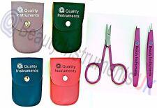 Eyebrow Ingrown Hair Remover Tweezers 2x&1x Scissors Tweezing Multi Case Set UK.