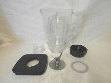 5 Cup Break Resistant Plastic Blender Square Jar Complete Set For Oster, 6 Piece