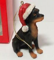 Rottie Chilly Dog Hand Knit Wool Rottweiler Ornament