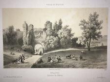 ARQUES Interieur Chateau LITHOGRAPHIE Deroy NORD Pas de Calais XIX°