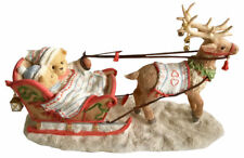 Cherished Teddies Gus and Gerhild Boy Girl Sleigh Figurine 105478 - 2002 Enesco