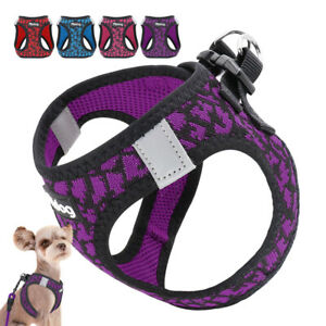 Reflective Dog Step In Harness Pet Puppy Cat Mesh Padded Walking Vest Chihuahua