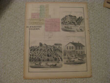 ANTIQUE 1871 BLACKBERRY STATION TOWNSHIP KANE COUNTY ILLINOIS HANDCOLORED MAP NR