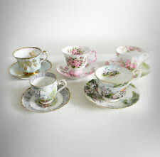 Royal Albert set of five different cups and saucers - England -  FREE SHIPPING