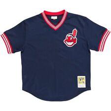 6416c0da8 1986 Cleveland Indians Joe Carter Navy Mitchell   Ness BP Jersey L