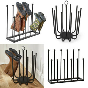 5/6Pairs Boot Rack Wellie Welly Holder Stand Wellington Shoe Storage Dryer Metal