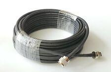 100' Double Shield Coax Cable RG8X Assembly Jumper Black PL259 Connectors CB Ham