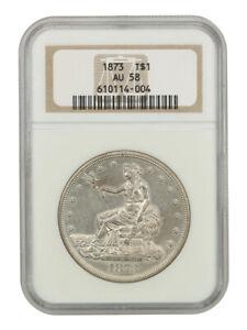 1873 Trade$ NGC AU58 - Lustrous AU - US Trade Dollar - Lustrous AU