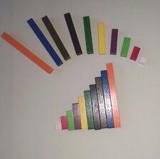 Cuisenaire type en bois baguettes (new 74 tiges pour maths enseignement/apprentissage bar modèle)