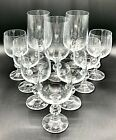 Set of 9 CLAUDIA Bohemia Crystal Wine Glasses Faceted Ball Czech Goblets Wine