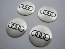 AUDI 4x56.5mm Silver Wheel Center Stickers Badge Hubcaps Rim Caps A3 A4 A5 A6 A7