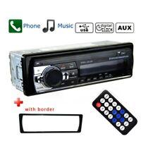 Single 1Din Car Stereo MP3 Player FM Radio Bluetooth 4.0 USB AUX TF Head Unit