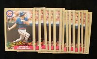 Rafael Palmeiro Rookie RC Lot 18 CARDS 87 Chicago Cubs 1987 Topps Donruss