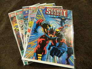 1993 TOPPS Comics JACK KIRBY'S SECRET CITY SAGA #0, #1-4 Complete Limited Series