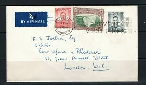 Southern Rhodesia GVI cover with 3 diffrent stamps on with Salisbury cds