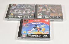3 x Sony Playstation 1,Shoot + 5 Star Racing + Mickey Lernen,Neu/eingeschweißt
