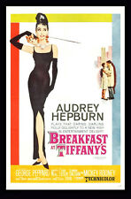 AUDREY HEPBURN Breakfast  - A4 Canvas print movie poster