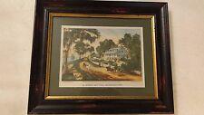 Currier & Ives Vintage Lithograph Print, Mississippi Scene Framed Riverboat 1871